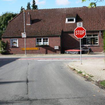 STOP – Schild wurde aufgestellt