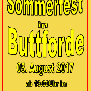 Sommerfest in Buttforde am 5. August