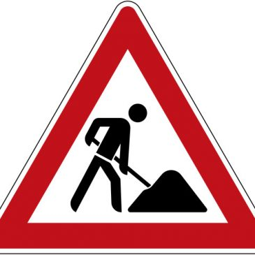 Straßenarbeiten Neudorfer Weg im Oktober 2018