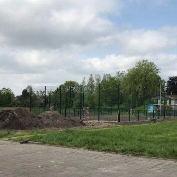 Soccerplatz in Buttforde nähert sich der Eröffnung